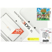 White Nintendo 3DS XL Console Bundle with Animal crossing and Power Adapter