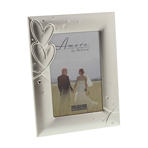 """4"""" x 6"""" - AMORE BY JULIANA? Silver Plated Photo Frame"""