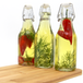 Set of 6 Clip Top Preserve Bottles | M&W 250ml New - Image 9
