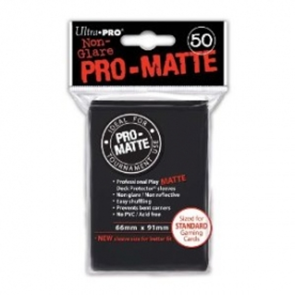 Ultra Pro 50 Matte Black Sleeves DPD Case of 12