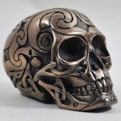 Tribal Cold Cast Bronze Skull (Small)