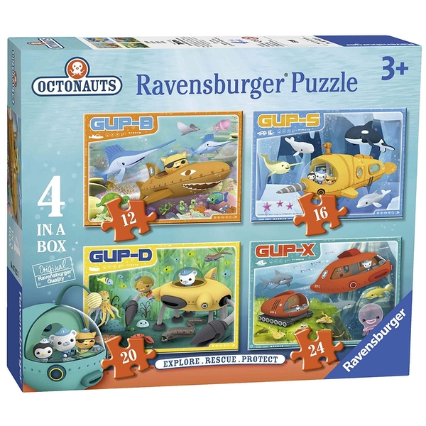 Ravensburger Octonauts Vehicles 4 in Box Jigsaw Puzzles - 12, 16, 20 and 24 Pieces