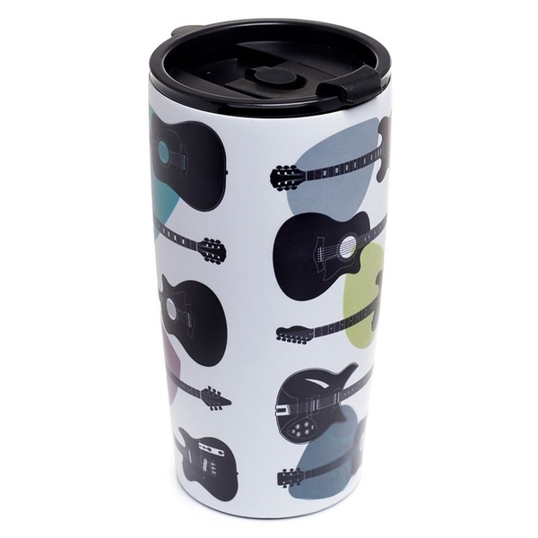 Headstock Guitar Reusable Stainless Hot & Cold Thermal Insulated Food & Drink Cup 500ml