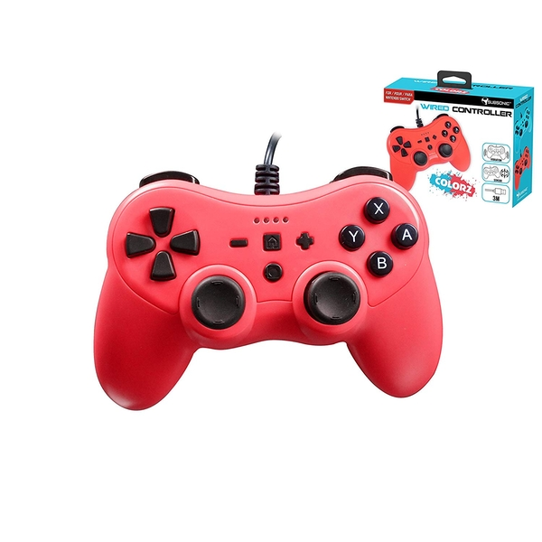 Subsonic PRO-S Red Colorz Wired Controller for Nintendo Switch