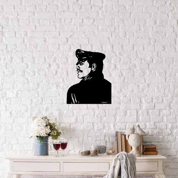Tom Of Finland Police Black Decorative Metal Wall Accessory