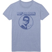 Roy Orbison - Photo Circle Men's Medium T-Shirt - Blue