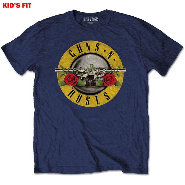 Guns N' Roses - Classic Logo Kids 13 - 14 Years T-Shirt - Blue