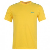 Slazenger Plain T-Shirt Small Yellow