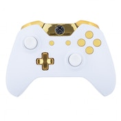 Matte White & Gold Xbox One Controller