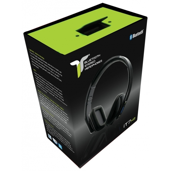 iT7x2 Foldable Wireless Bluetooth Headphones with Near Field Communication NFC Black - Image 4