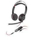 Plantronics Blackwire 5220 Binaural Head-band Black, Red