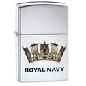 Zippo Royal Air Force Logo Brushed Chrome Finish Windproof Lighter