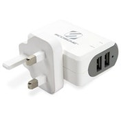 Scosche StrikeBase Indoor White mobile device charger