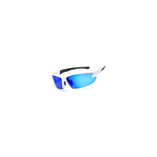 Sinner Speed Single Wrap Sunglasses - Matte White/Blue