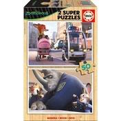 Disney Zootropolis 2 Super Officer Judy Hopps 50 Piece Wooden Jigsaw Puzzles