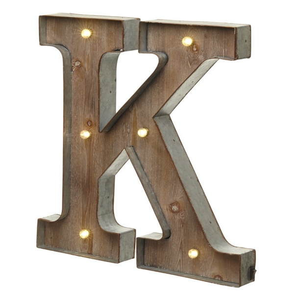 K With Led Letter By Heaven Sends