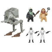 Star Wars Vintage Scout Walker AT-ST Vehicle with 2-pack Ewok Scouts and Driver Pack