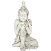 White Hands on Knee Garden Buddha