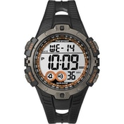 Timex T5K801 Mens Marathon Full-Size Digital Watch Black/Orange