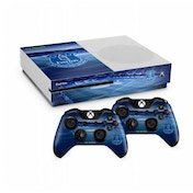 Official Everton FC Xbox One S Console Skin and 2x Controller Skin Combo Pack