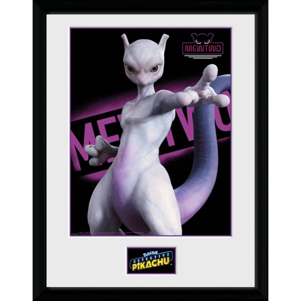 Detective Pikachu Mewtwo Collector Print