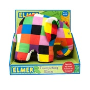 Trumpeting Elmer Soft Toy