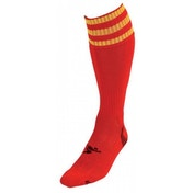 PT 3 Stripe Pro Football Socks Boys Red/Yellow