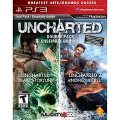 Ex-Display Uncharted Drakes Fortune & Uncharted 2 Among Thieves Game (Greatest Hits) PS3 Used - Like New