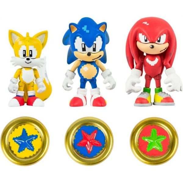 Ex Display Sonic The Hedgehog 3 Inch 25th Anniversary Action Figures Collectible Coins Sonic Knuckles Tails Used Like New Shop4megastore Com