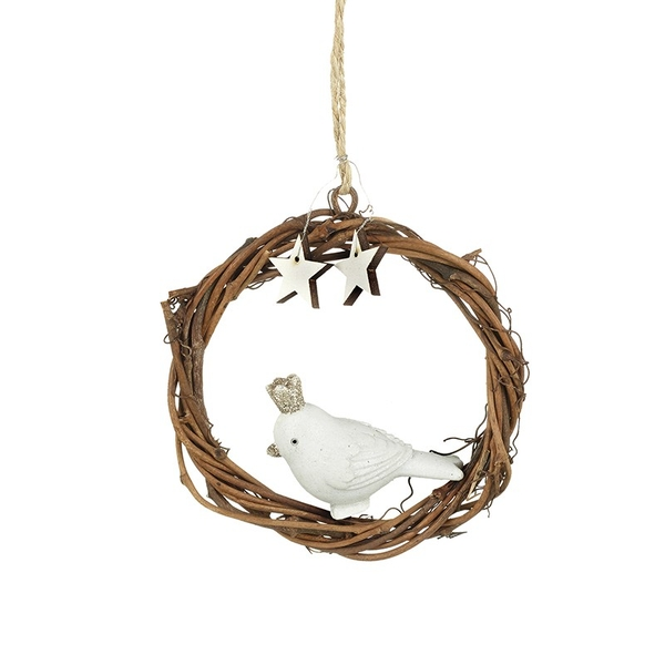 Hanging Resin Bird Decoration by Heaven Sends