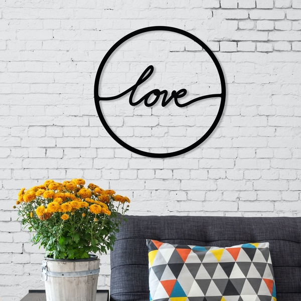 To Love Black Decorative Metal Wall Accessory