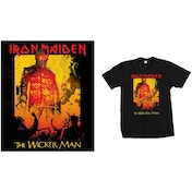 Iron Maiden - The Wicker Man Fire Men's XX-Large T-Shirt - Black