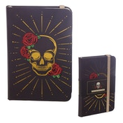 Black and Gold Skull Hardback Notebook