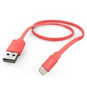 "Hama ""Flat"" Charging/Data Cable, Lightning, 1.2 m, pink"