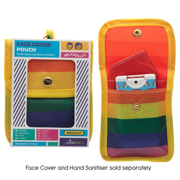 Somewhere Rainbow Face Covering & Hand Sanitiser Pouch