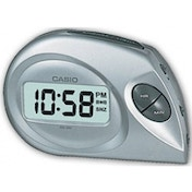Casio Digital Beep Alarm Clock Silver