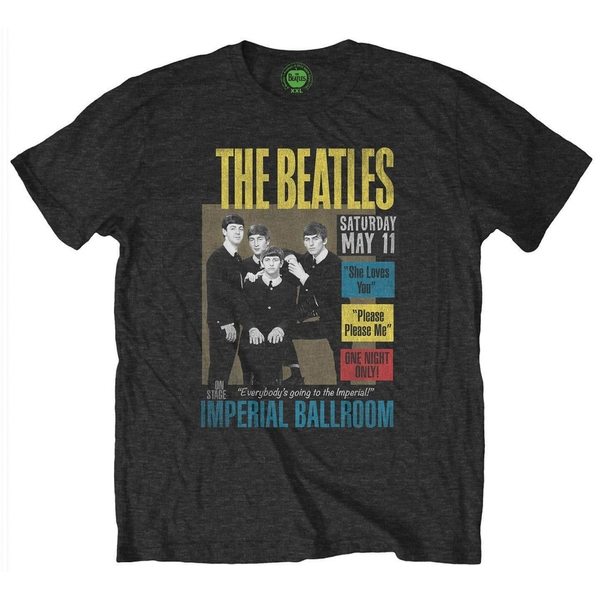 The Beatles - Imperial Ballroom Unisex X-Large T-Shirt - Black