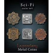 Sci Fi Coin Set Legendary Metal Coins