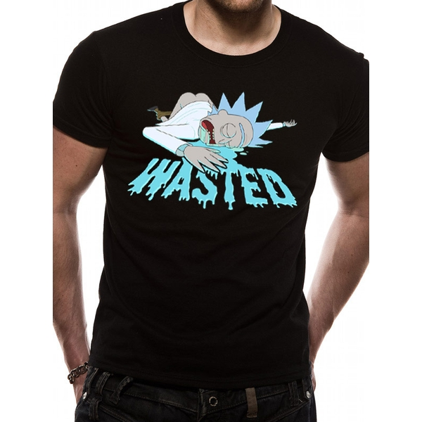 Rick And Morty - Wasted Men's X-Large T-Shirt - Black