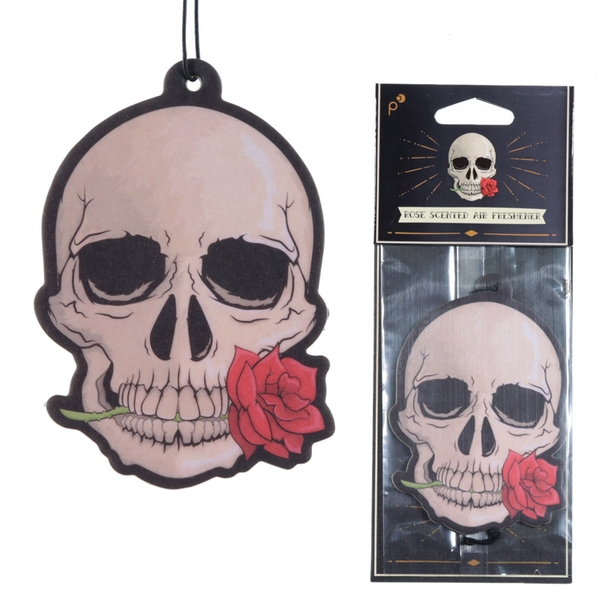 Skull Design Rose Fragranced (Pack Of 6) Air Freshener