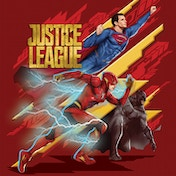 Justice League Movie - Heroes To Action Canvas