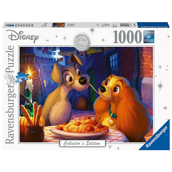 Ravensburger Disney Collector's Edition Lady & The Tramp 1000 Piece Jigsaw Puzzle