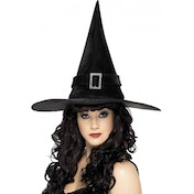Diamante Buckle Witch Hat
