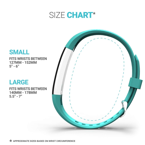 Yousave Fitbit Alta / Alta HR Strap Single Small - Grey - Image 6
