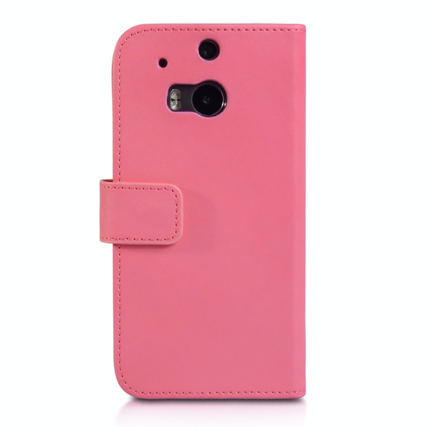 YouSave Accessories HTC One M8 Leather-Effect Wallet Case - Hot Pink - Image 2