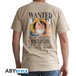 One Piece - Wanted Luffy Men's Large T-Shirt - Beige - Image 2