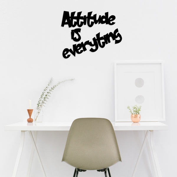 Attitude Is Everyting Black Decorative Wooden Wall Accessory