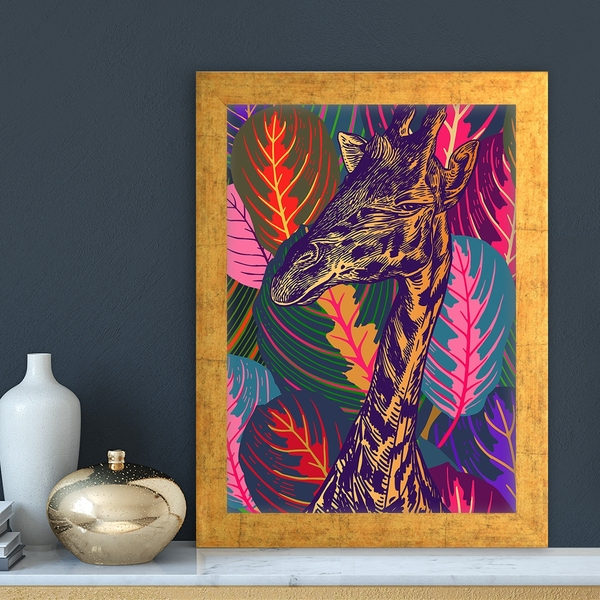 AC1262310835 Multicolor Decorative Framed MDF Painting