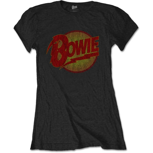 David Bowie - Diamond Dogs Vintage Women's Small T-Shirt - Black