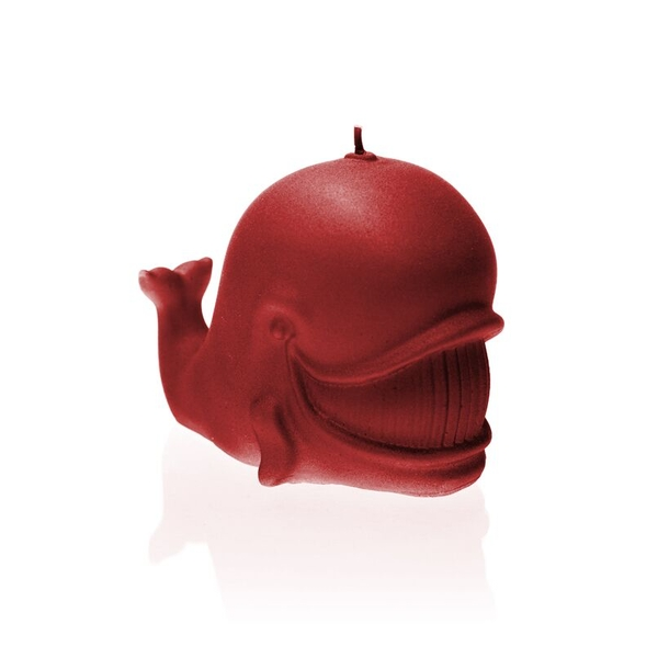 Red Whale Candle